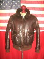 Vintage Rare! SCHOTT  I-S-674-M-S  Flight Bomber Leather Jacket . Size 40 .ROBIN