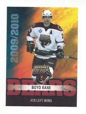 2009-10 Hershey Bears (AHL) Boyd Kane