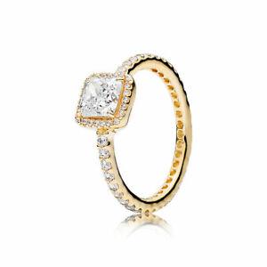 AUTHENTIC NEW PANDORA GOLD TIMELESS ELEGANCE RING 150188CZ *CHOOSE SIZE 50-58