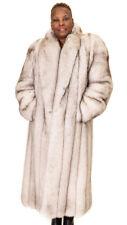 """NWT Natural Norwegian Blue Fox Fur 50"""" Coat; size 6-8; 50% off"""