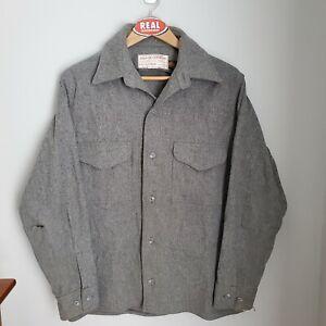 Vintage Filson Wool Jac Shirt Men's Medium Distressed Grey Style 90