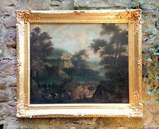 Old masters Oil painting: Arcadian River landscape, Italian School um 1720