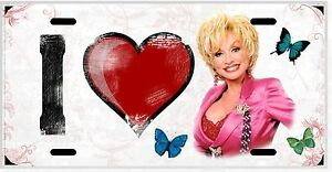 L@@K Dolly Parton  License Plate Vanity Auto Tag
