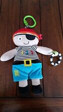 M&S Marks and Spencer Pirate Sensory Teething Baby Soft Toy Pram Cot Car seat