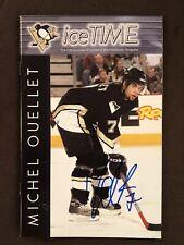 Michel Ouellet Autograph Pittsburgh Penguins Sga Ice Time Program Signed Rare