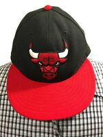 1337be088b76 Chicago Bulls NBA New Era NBA Side Hit 59fifty Baseball Cap Hat fitted Sz. 7
