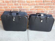 FERRARI 348 LEATHER LUGGAGE SET OF 2 MADE BY SCHEDONI. IN GOOD SHAPE