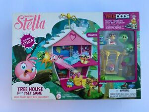 Hasbro Angry Birds Stella Telepods Tree House Playset Game