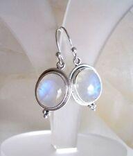 Ohrringe mit Regenbogen Mondstein, 925er Silber