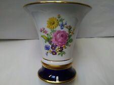 01 Vintage Beautiful Royal Dux Bohemian Porcelain Trumpet Vase Hand Painted Czec