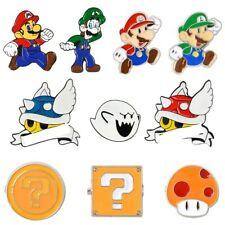 Shell Super Mario Kart Enamel Pin Comics Video Game Boo Ghost Lapel Pins