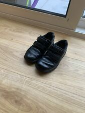 Boys Black Leather Clarks Shoes Size 13G
