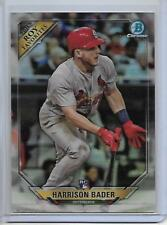 2018 Bowman Harrison Bader Chrome ROY Favorites Insert Card