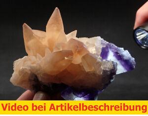8067 Calcit Fluorit ca 8*11*6 cm Minerva Mine Illinois Cave in Rock USA MOVIE