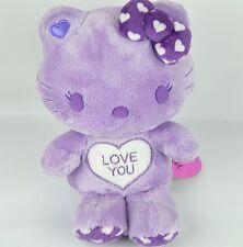 "Momoberry Hello Kitty I Love You Mini 9"" Sanrio Lavandar Purple White Heart Rare"