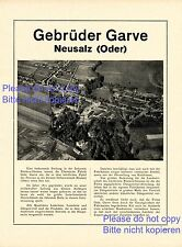 Chemical Factory Garve 1923 German ad Neusalz Nowa Sol Germany Poland +