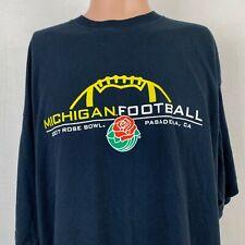 Champion Michigan Wolverines Football 2007 Rose Bowl T-Shirt NCAA College 3XL