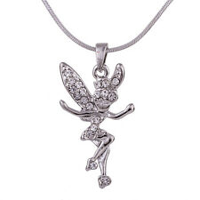 """Fairy Charm Pendant Fashionable Necklace - Sparkling Crystal - 18"""" Chain"""