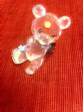 Swarovski Little Teddy Bear With Red & Green Ribbon New In Box 20% Disc!