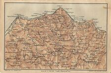 Carta geografica antica SICILIA CAPO D'ORLANDO MESSINA TCI 1919 Antique map