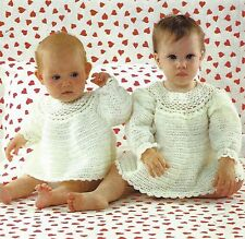 BABY CROCHET DRESS & ANGEL TOP PATTERN  18/22 INCH   (112)
