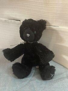 Shining Stars Black Cat Plush Stuffed Kitty Kitten Sparkle Beans