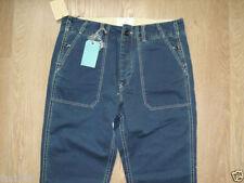 Pantaloni da uomo blu regolare a gamba dritta