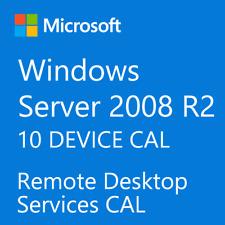 Windows Server 2008 / 2008 R2 Remote Desktop Services RDS 10 DEVICE CAL License