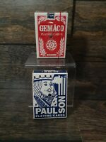 Vintage Gemaco & Paul Son Playing Cards Lot Casino 2 Packs Red Blue Game Night