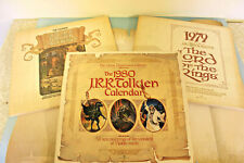 J.R.R. Tolkien Calendars - Lot of 3 1978, 1979 and 1980 New in sealed mailers!