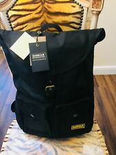 NEW BARBOUR INTERNATIONAL BLACKWELL WAX BACKPACK LAPTOP BAG R.R.P. £129.00
