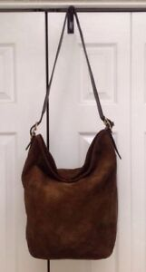 COACH 9196 CHOCOLATE BROWN SUEDE 9151 CARRYALL Laptop Diaper TravelTote WorkBag!