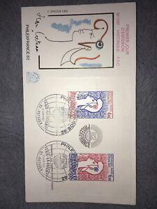 1 Enveloppe FDC Philexfrance Du 11 Juin 1982. Cote 36€ Net 5.00€.. Bloc. N'8