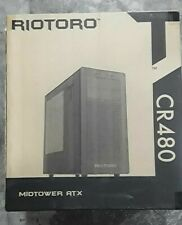 RIOTORO CR480 Midtower ATX Gaming Case with Clear Window Panel
