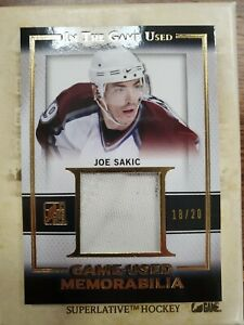 JOE SAKIC 2016 In The Game Used Game Worn Memorabilia Jersey Gold 18/20