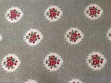 In Tela Cerata Tessuto, rivestito in PVC, Cammeo Posy design, colore salvia, al metro