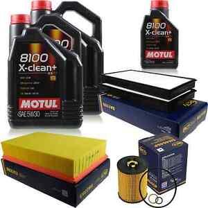 10L Inspektionspaket Set Motul 8100 X-clean+ 5W-30 Motoröl SCT Filter 11384308