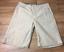 Mens Size 34 Shorts Golf Brown Check Holiday Cruise Redsand Originals