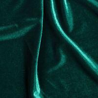 "Hunter Green Stretch Velvet Apparel Costume Dance Spandex Fabric - BTY - 58"""