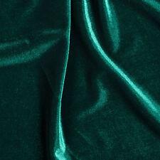 Hunter Green Stretch VELVET Apparel Dress Costume Fabric- 25 Yard Bolt Roll