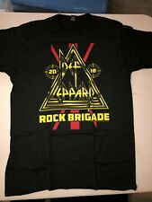 Def Leppard 2018 Rock Brigade Fan Club Medium T-Shirt New! Never Worn