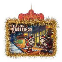 Disney Parks Store Santa Mickey & Minnie Mouse Paper Ornament Holiday Christmas