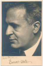Bruno WALTER (Conductor): Signed Trude Fleischman Postcard Photograph