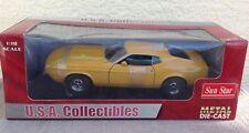 Sun Star 1971 Ford Mustang Sportsroof medium yellow gold 3614 car 1:18 diecast