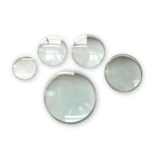 Optical Glass Condenser Convex Magnifying Glass Lens DIY Magnifier 2x 3x Lenses