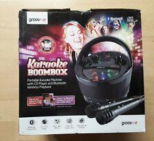Groov-e GV-PS923-BK Karaoke Boombox With CD Player.