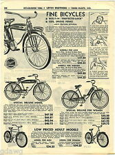 1949 ADVERT Columbia Bicycles Protecto Lock Coil Spring Forks Deluxe