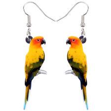 Acrylic Parakeet Parrot Bird Earrings Drop Dangle Animal Jewelry For Women Gifts