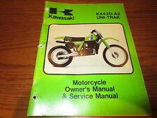 GENUINE KAWASAKI 1981 KX420A2 Uni-Trak OWNERS SERVICE MANUAL 99963-0041-01 SW41K