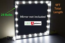 VANITY MAKE UP MIRROR LED BULB LIGHT 9FT HOLLYWOOD STYLE + DIMMER + UL POWER